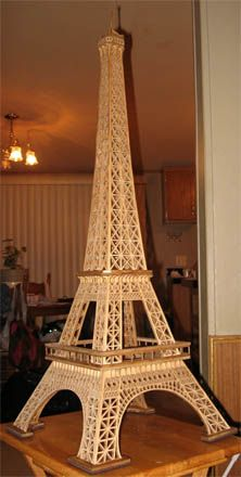Scroll Saw Tutorial For The Fretwork Pattern Of Eiffel Tower Wooden Model