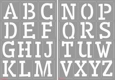 185070/2202  CraftEmotions stencil 2 x A4 - alphabet CraftEmotions  8718736020439