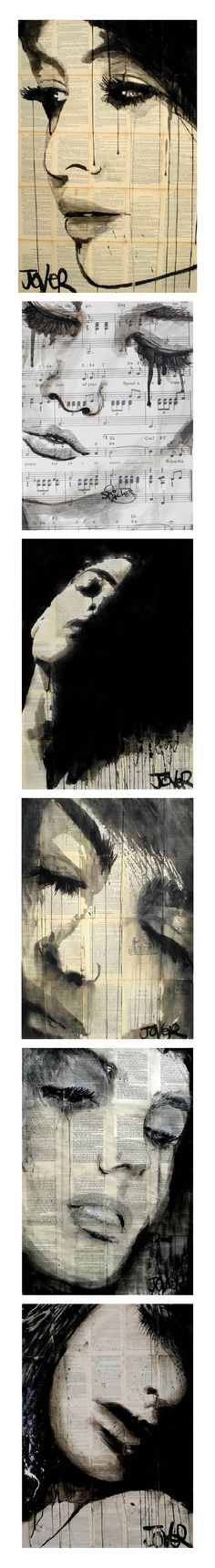 Art by Loui Jover - In Saatchi Online. if i may this painting speeks sensual sorrows to me