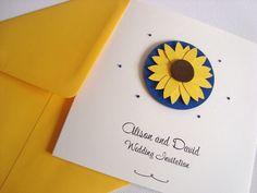 Sunflower Luxury Wedding Invitation