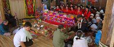 Mai Chau - Funeral in the nearby village. #vietnam #maichau #travel #wandering #funeral #ethnicity #thai