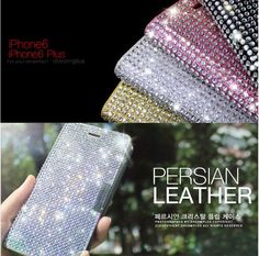 Brighten up your smartphone with this glittering and sophisticated Dreamplus Persian Leather Bling Cover, embellished with clear cubic crystals. Designed to fit the iPhone 6 Plus, it is a real trendy fashion accessory, which can mix and match with your clothes, jewelry, or other accessories.