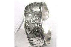 Silver Tibet Bangle Cuff Elephant Bracelet - FREE SHIPPING & NO FEES! $6.99