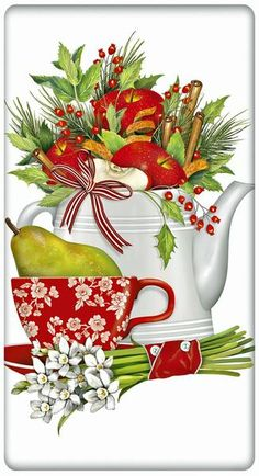 Saluting the tea party lifestyle, we offer huge collections of kitchen dish towels with personality. Discover something for every season. Low flat rate shipping.
