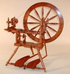 The Norwegian spinning wheel Rokk Spinning Frame, Spinning Wool, Hand Spinning, Spinning Wheels, Purple Heart Wood, Drop Spindle, Old Tools, Custom Wheels, Loom Weaving