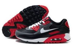 sports shoes 65afb 9de61 Nike Air Max 90 Mens Shoes Black Cool Grey White University Red Usa