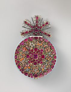 """Nicolaus Rugendas the Younger (German, 1619–1694/5), master 1662. The Great Ruby Watch, ca. 1670.  German, Augsburg.  The Metropolitan Museum of Art, New York. Gift of J. Pierpont Morgan, 1917 (17.190.1520)    This work is featured in the """"The Luxury of Time: European Clocks and Watches"""" exhibition, on view through March 27, 2016. #LuxuryofTime"""