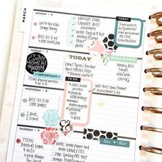 1 month, 1 sticker book in the 'Rose Gold' Horizontal Happy Planner® by mambi Design Team member April Orr   me & my BIG ideas