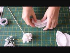 Flor con molde de papel - YouTube