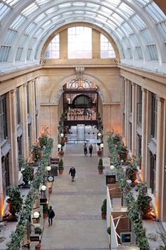 Nottingham Arcade, taken from inside the Council House