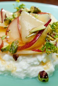 White Peaches, Pistachios, Honey and Ricotta Recipe - NYT Cooking