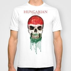 2017 Hot Sale Fashion Hungary Skull flag New Fashion Men's T-shirts Short Sleeve Tshirt Cotton t shirts Man Clothing