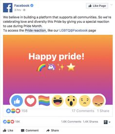 Here's How To Get The Rainbow Pride Reaction On Facebook That All Your Friends Have