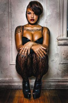 Her name is JustMissParis. I guess I should have her style. Garter Belt And Stockings, Star Photography, Vogue, Full Figured Women, Black Girls Rock, African American Women, African Beauty, Black Lingerie, Photoshoot Inspiration