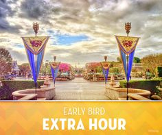 Did you know? With Extra Magic Hour, Disneyland Resort Hotel Guests enjoy admission to select attractions, stores, entertainment and dining locations in Disneyland Park or Disney California Adventure Park for one full hour before the parks open to the general public.