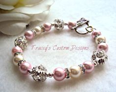 ef24e92c3291 Beautiful Breast Cancer Awareness Bracelet - Custom made jewelry