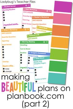 Making Beautiful Plans on Planbook.com (Part 2)