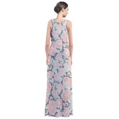 Aisle Flowers Sleeveless Maxi Dress. Beautiful comfortable dress for attending weddings, bridal showers, spring/summer parties and more!