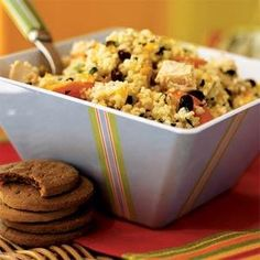 Couscous Salad with Chicken and Chopped Vegetables | MyRecipes.com