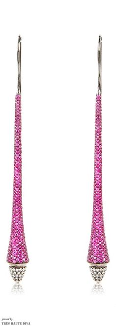 ~MY.A Jewellry Lucido Earrings Pink Rubies | The House of Beccaria#