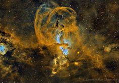 Linha D'Água Imagens Astronômicas: Imagens Incríveis de Regiões de Formação Estelar