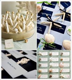 decoration mariage mer escort cards