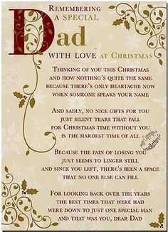 Christmas Grave Card - Special Dad - FREE Holder-C110 in Other Memorials & Funerals | eBay