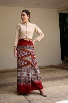 Thai Dress, Silk Dress, Asia, Traditional, Skirts, Outfits, Dresses, Style, Fashion