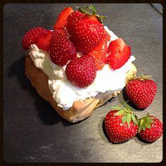 Pavlova aux fraises!