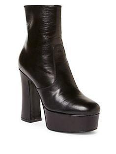Saint Laurent - Candy Leather Platform Booties