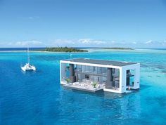Arkup floating house in blue