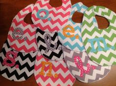 Cute bibs! These would make great gifts! Things I can make instead of buy... Great ideas of course :)