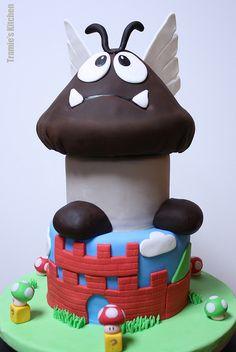 Goomba from Mario Bros Cake