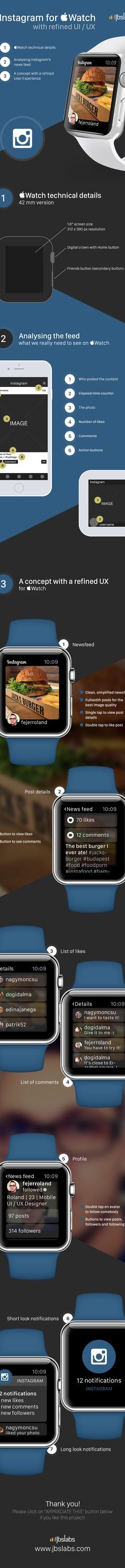 #Instagram for #Apple Watch with refined UI / UX on Behance