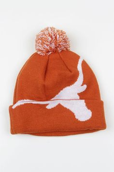 52123b01d Get into Texas spirit this winter with this Longhorn cuffed knit cap! This  Burnt Orange