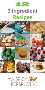 12 3-Ingredient Recipes