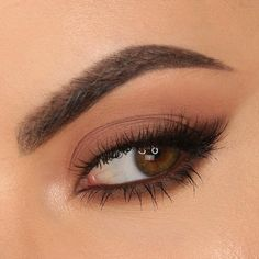 soft wash of color over the lid, smoked-out brown winged liner & lower lashline - M R D A N I E L (@mrdanielmakeup) EYE OF THE DAY, everyday wearable makeup