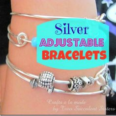 DIY Silver Adjustable Bracelets