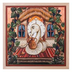 Acrylic Painting Canvas, Canvas Paintings, Home Clock, Folklore, Wooden Frames, Creatures, Walls, Spirit, Beautiful