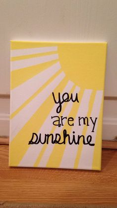 Trendy Painting Wood Canvas Christmas Trendy Painting Wood Canvas Christmas DecorationsItems similar to You Are My Sunshine Canvas Painting on EtsyYou Are My Sunshine Canvas Painting by SavySurgeon on DIY Easy Glitter Small Canvas Paintings, Christmas Paintings On Canvas, Easy Canvas Art, Small Canvas Art, Easy Canvas Painting, Cute Paintings, Mini Canvas Art, Diy Canvas, Diy Painting