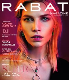 Aline Weber jewelry looks Pose on Rabat Magazine winter 2015 cover shoot