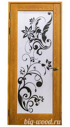 Дверь из массива. Стекло с узором #двери #деревянныедвери #door #изделияизмассива #массив #деревовинтерьере #wood