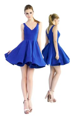 6c516a32f78 2019 Royal Blue Satin Homecoming Dresses V-Neck Sexy Short Cocktail Dress