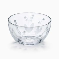 Lily of the valley bowl in crystal.