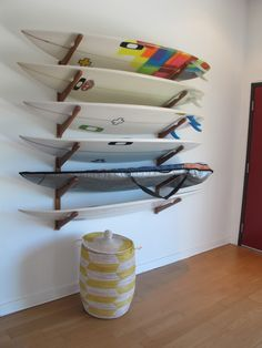 surf rack at home