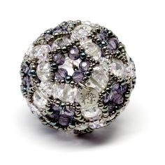 Icosahedral Cluster  Beaded Art Object Sculpture by gwenbeads, $125.00