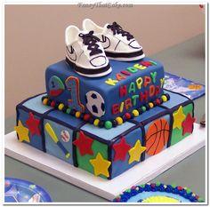 Cakes Boy S Birthday Tags 1st Basketball Smash Cake cakepins.com