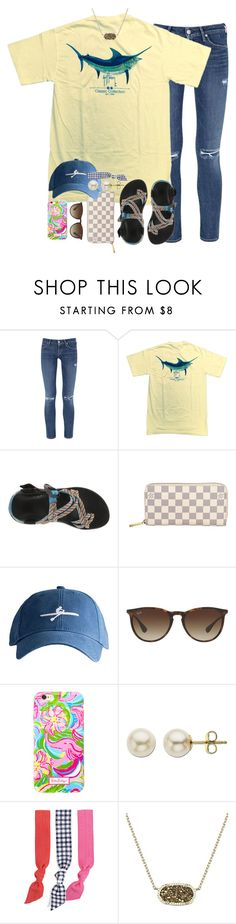 """""""follow me on Pinterest// ecr626"""" by thefashionbyem ❤ liked on Polyvore featuring Citizens of Humanity, Guy Harvey, Chaco, Louis Vuitton, Harding-Lane, Ray-Ban, Lilly Pulitzer, Lord & Taylor, Splendid and Kendra Scott"""