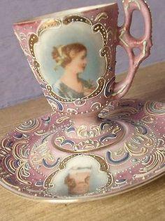 berengia: Antique-de-rosa fazem COPO de Chá e pires, faça Japonês Ardalt vindima ...