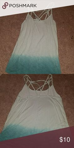 Tank top Ombre green, strappy tank from American Eagle. Never been worn. American Eagle Outfitters Tops Tank Tops